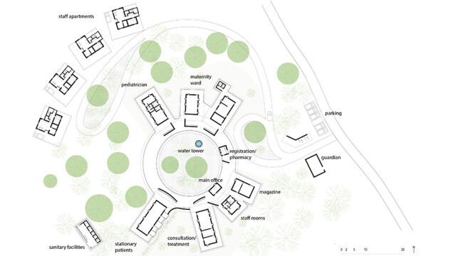 Kere Foundation Healthcare Center Siteplan@@ Kere Architecture