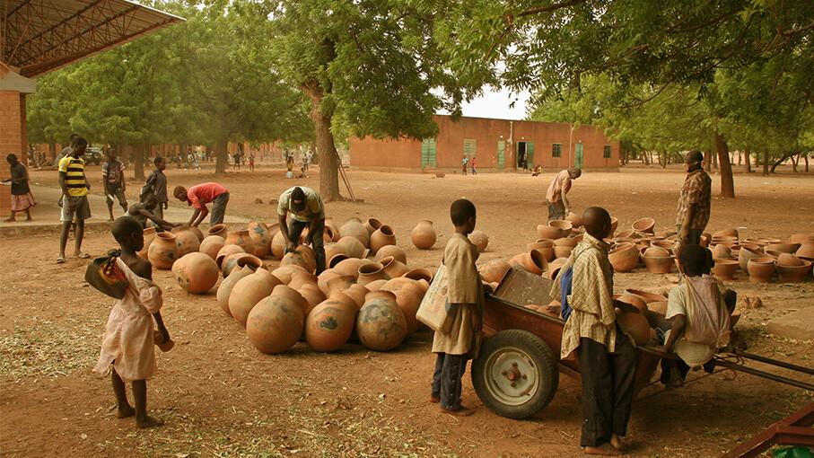 Kere Foundation Ceramic Pots@ Francis Kere