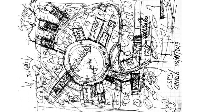Kere Foundation Healthcare Center Sketch@ Francis Kere